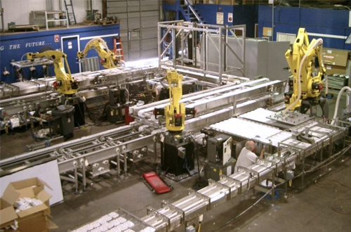 Specialty Transfer Conveyors for Robotic Case Packing Systems