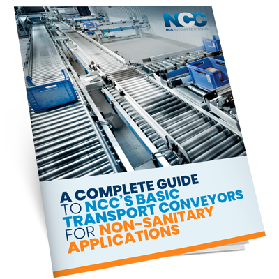 A Complete Guide To NCC's Basic Transport Conveyors for Non-Sanitary Applications -  - mock ebook