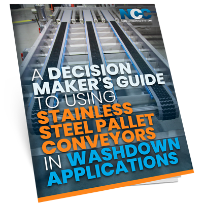 A Decision-Maker's Guide to Using Stainless Steel Pallet Conveyors in Washdown Applications - mock eBook