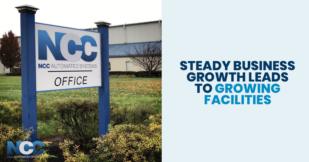 steady business growth leads to growing facilities